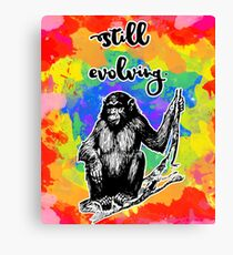 Evolution T Shirt  Canvas Print