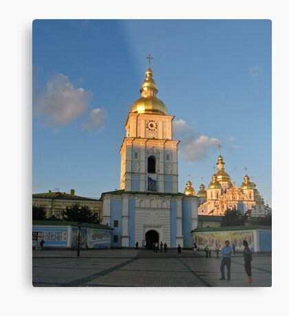 St Michael's gold-domed monastery  Metal Print