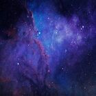Deep space and stars blue and purple by artonwear
