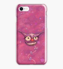 Happy Pink Cat Balloon iPhone Case/Skin