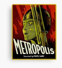 Metropolis - Fritz Lang 1927 Cult Classic Sci Fi Movie Canvas Print