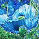 Blue Poppy Garden by Carol  Cavalaris