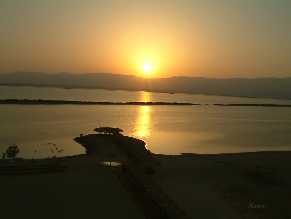 Sunrise Dead Sea by Ilunia Felczer