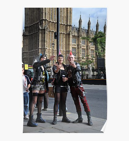 Fingers Up: Punk Rockers and the House of Parliament Poster