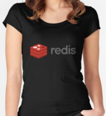 redis database Women's Fitted Scoop T-Shirt