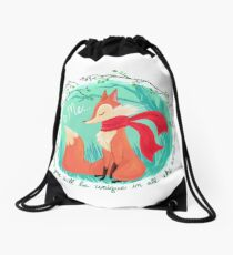Unique In All The World Fox Drawstring Bag