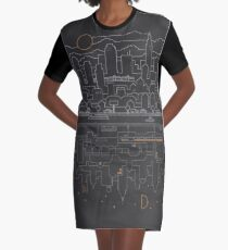 City 24 (Grey) Graphic T-Shirt Dress