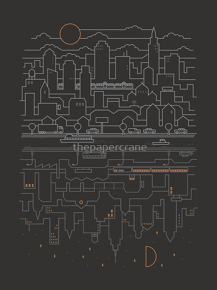 City 24 (Grey) by thepapercrane