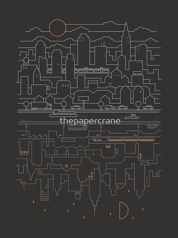 «Ciudad 24 (gris)» de thepapercrane