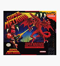 Super Metroid Box Art Poster  Photographic Print