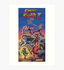Street Fighter 2, Restored / Reprinted Vintage Retro Gaming Poster Art Print