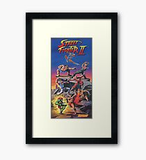 Street Fighter 2, Restored / Reprinted Vintage Retro Gaming Poster Framed Print
