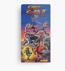 Street Fighter 2, Restored / Reprinted Vintage Retro Gaming Poster Metal Print