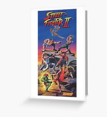 Street Fighter 2, Restored / Reprinted Vintage Retro Gaming Poster Greeting Card
