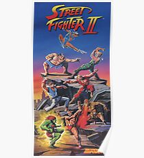 Street Fighter 2, Restored / Reprinted Vintage Retro Gaming Poster Poster