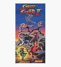 Street Fighter 2, Restored / Reprinted Vintage Retro Gaming Poster Photographic Print