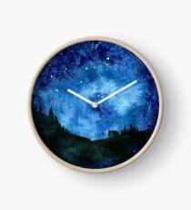Sterne im Nachthimmel Uhr