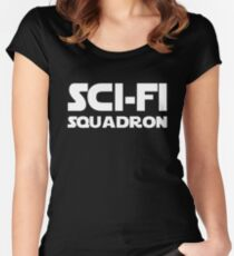 Funny Sci Fi Squadron Print.  Women's Fitted Scoop T-Shirt