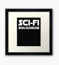 Funny Sci Fi Squadron Print.  Framed Print