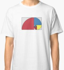 Golden Ratio Spiral - Sections Coloured Classic T-Shirt