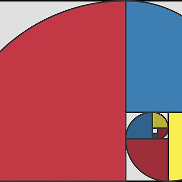 Golden Ratio Spiral - Sections Coloured by joshdbb