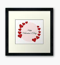 valentines hearts Framed Print