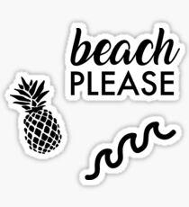 Strand bitte Sticker