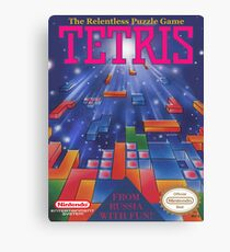 Tetris Box Art Poster Canvas Print
