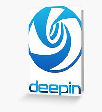 deepin linux Greeting Card