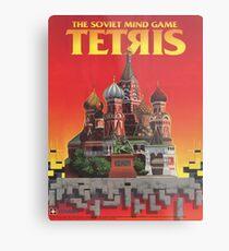 Tetris, Restoration of Original Game Poster, from Nintendo Power  Metal Print