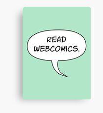Read Webcomics - Low Balloon Tail Canvas Print