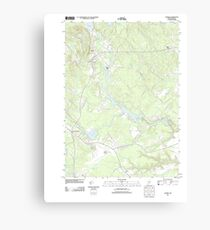 Maine USGS Historical Map Alfred 20110825 TM Canvas Print