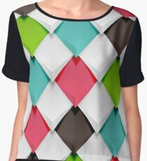 Colored Diamonds Chiffon Top