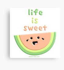 Life is sweet watermelon Canvas Print