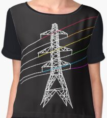 The Dark Side of Electricity Women's Chiffon Top
