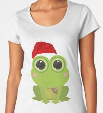 Christmas Frog Women's Premium T-Shirt