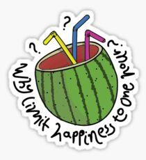 Watermelon Fishbowl Sticker