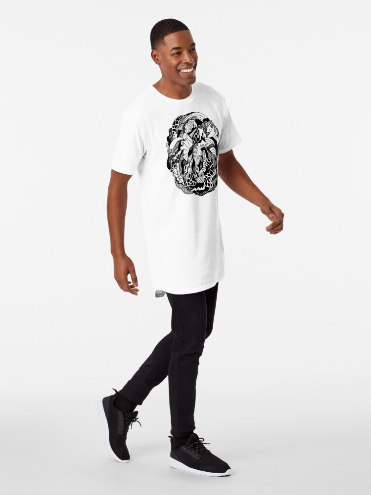 Alternate view of Abstract Wave of Thoughts 1 Long T-Shirt