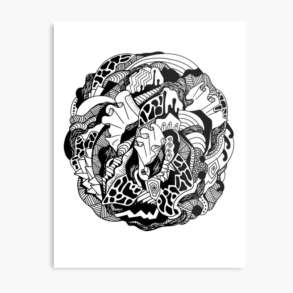 Abstract Wave of Thoughts 1 Metal Print