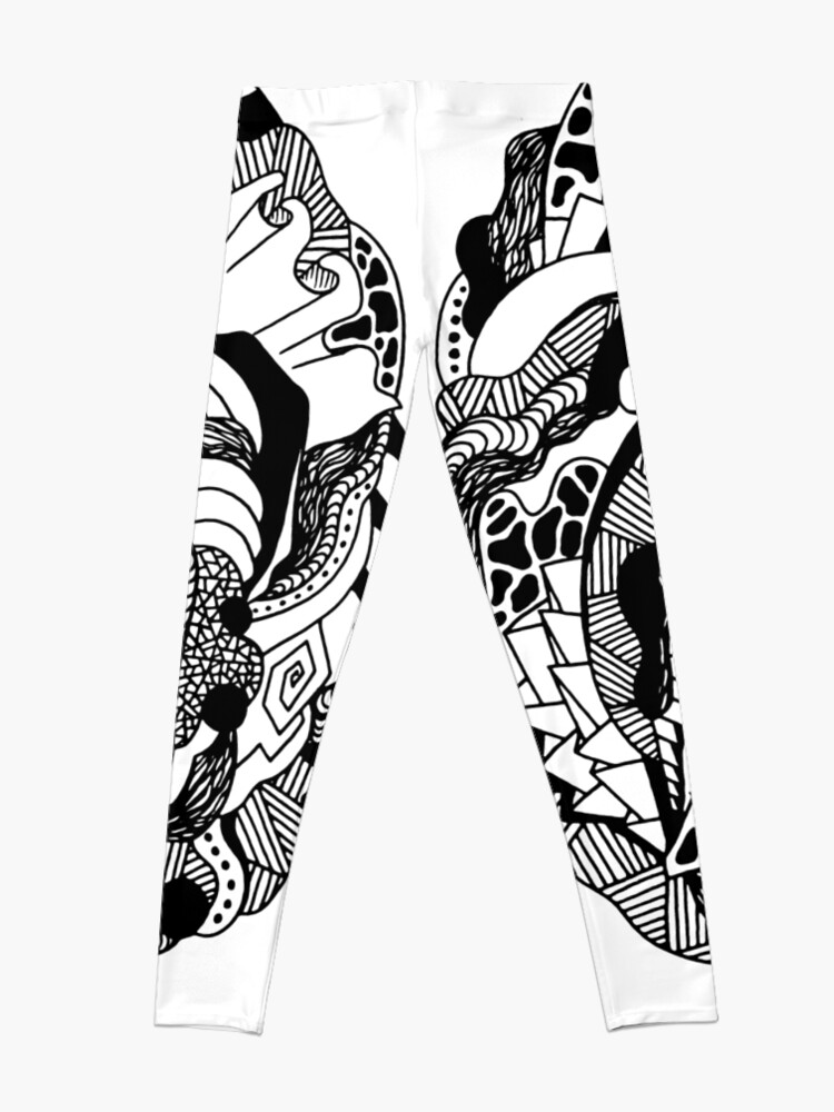 Alternate view of Abstract Wave of Thoughts 1 Leggings