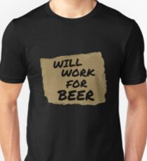 Will Work For Beer Halloween costume Adult T-shirt T-Shirt