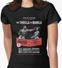 Ali vs Frazier - Thrilla in Manila Women's Fitted T-Shirt