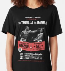 Ali vs Frazier - Thrilla in Manila Slim Fit T-Shirt