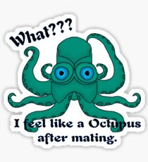 Demented Octupus Sticker