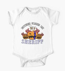 Nothing Scares Me I'm a  Sheriff  Halloween T-Shirt Sweater Hoodie Iphone Samsung Phone Case Coffee Mug Tablet Case Gift Kids Clothes