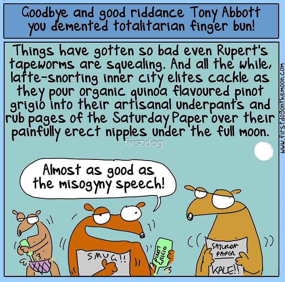 Farewell Tony Abbott by firstdog