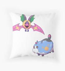 Komory Bat & Meow Wow! Throw Pillow