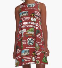Christmas Vacation Collage A-Line Dress