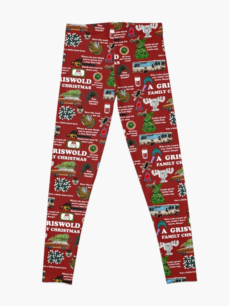 Alternate view of Christmas Vacation Collage Leggings