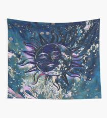 Dream Escape Sun Moon Wall Tapestry